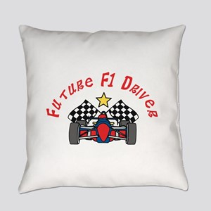 Future F1 Driver Everyday Pillow