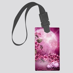 Pink Easter Rabbits Large Luggage Tag