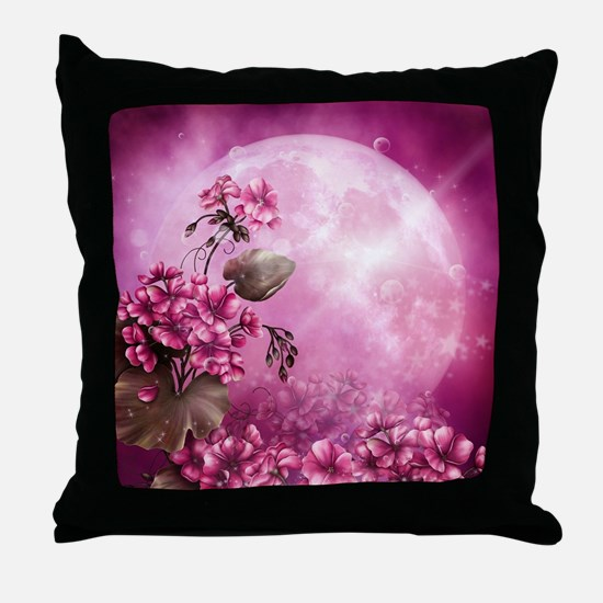 Pink Easter Rabbits Throw Pillow