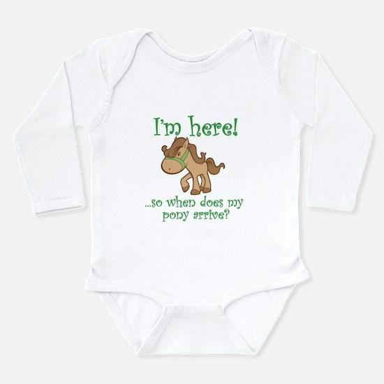 Cute Equestrian Long Sleeve Infant Bodysuit