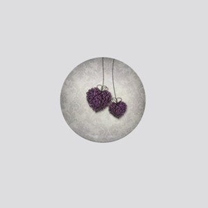 Purple Hearts Mini Button
