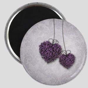 Purple Hearts Magnet