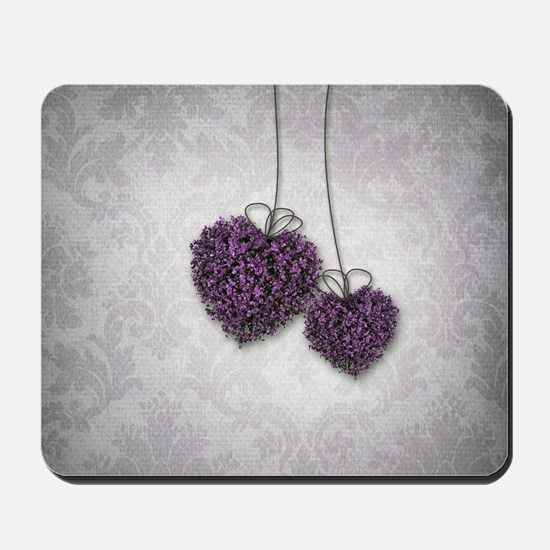 Purple Hearts Mousepad