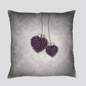 Purple Hearts Everyday Pillow