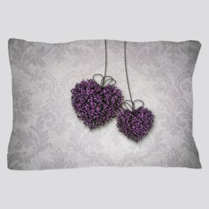 Purple Hearts Pillow Case