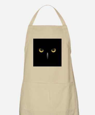 Owl Eyes Lurking In The Dark Apron