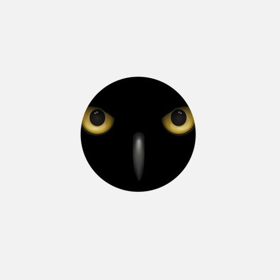Owl Eyes Lurking In The Dark Mini Button (10 pack)