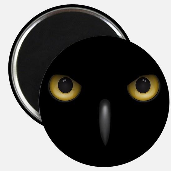 Owl Eyes Lurking In The Dark Magnets