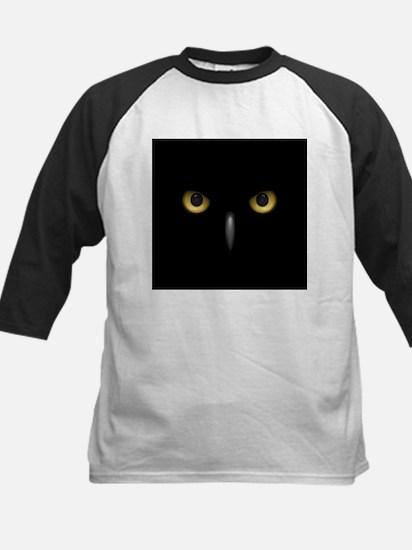 Owl Eyes Lurking In The Dark Baseball Jersey