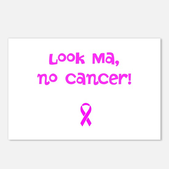 Look, Ma, no cancer! Postcards (Package of 8)