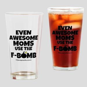 F-BOMB MOM Drinking Glass