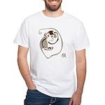 The Chinese Zodiac Monkey White T-Shirt