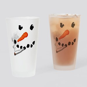 Bad Snowman Drinking Glass