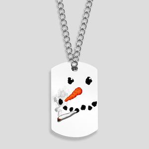 Bad Snowman Dog Tags