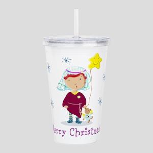 Daisy And Teddy Merry Christmas Acrylic Double-wal