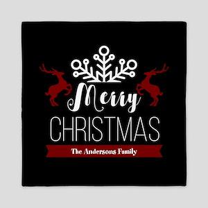 Custom Family Name Christmas Queen Duvet
