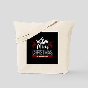 Custom Family Name Christmas Tote Bag