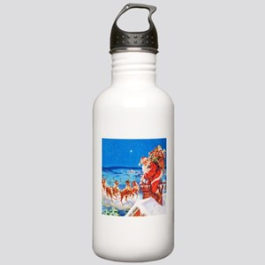 Santa and His Reindeer Stainless Water Bottle 1.0L