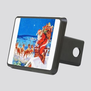 Santa and His Reindeer Up Rectangular Hitch Cover