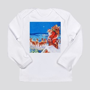 Santa and His Reindeer Long Sleeve Infant T-Shirt
