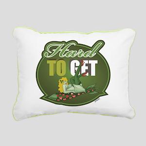 Hard To Get - Green Rectangular Canvas Pillow