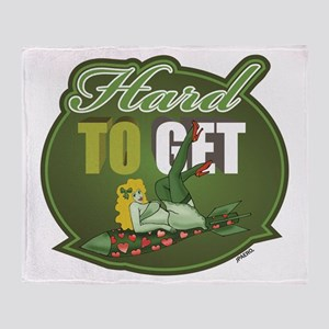 Hard To Get - Green Throw Blanket