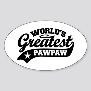 World's Greatest PawPaw Sticker (Oval)