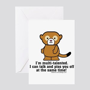 Monkey sayings greeting cards cafepress multi talented monkey greeting cards m4hsunfo