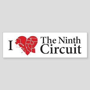 I Love The 9th Circuit Bumper Sticker