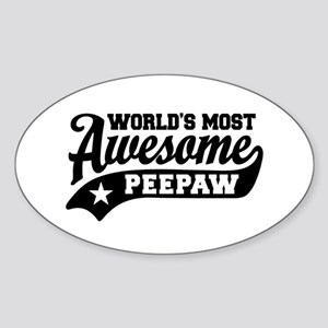World's Most Awesome PeePaw Sticker (Oval)