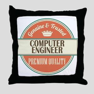 computer engineer vintage logo Throw Pillow