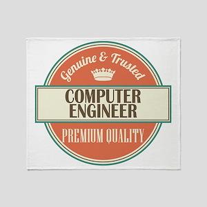 computer engineer vintage logo Throw Blanket
