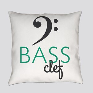 BASS Clef Everyday Pillow