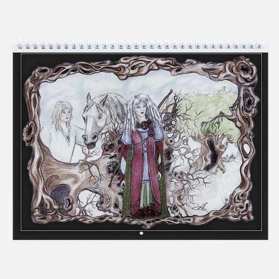 Forest Druids Celtic Fantasy Art Wall Calendar