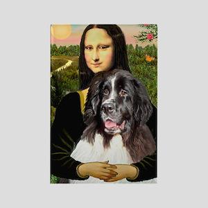Mona Lisa's Landseer Rectangle Magnet
