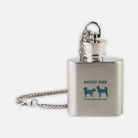 HUSKY DAD Flask Necklace