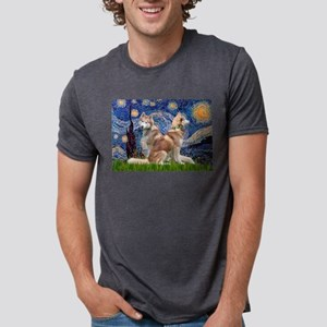 Starry Night Red Husky Pair T-Shirt