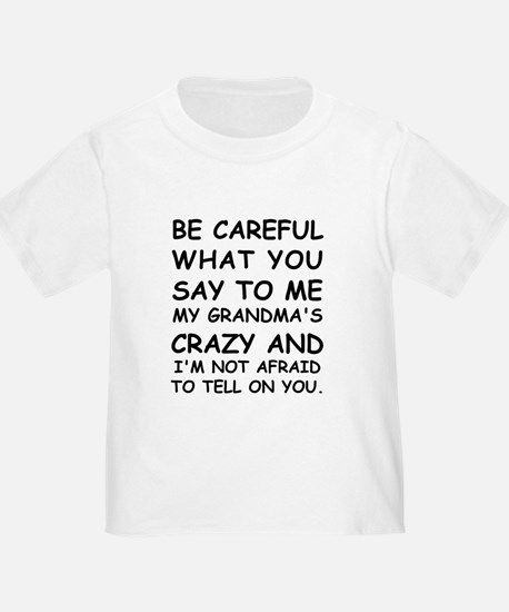Be Careful What You Say To Me T-Shirt