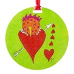 Love Nest Bird Style Round Ornament