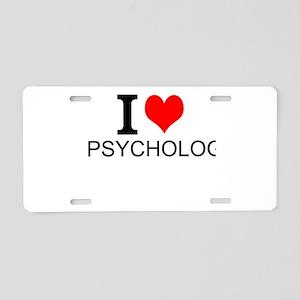 I Love Psychology Aluminum License Plate