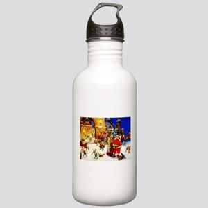 Santa and Mrs. Claus A Stainless Water Bottle 1.0L