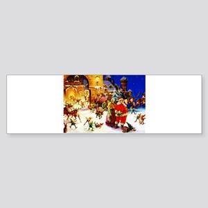 Santa and Mrs. Claus At The North Sticker (Bumper)