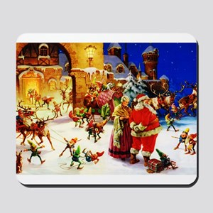 Santa and Mrs. Claus At The North Pole o Mousepad
