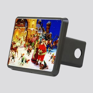 Santa and Mrs. Claus At Th Rectangular Hitch Cover