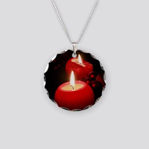 Candle002 Necklace Circle Charm