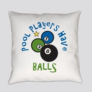 Pool Balls Everyday Pillow