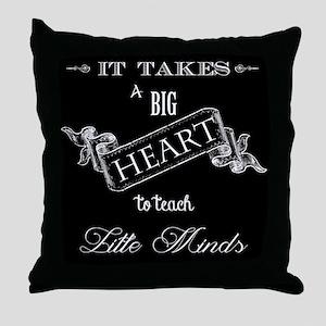 Big Heart Teacher Throw Pillow