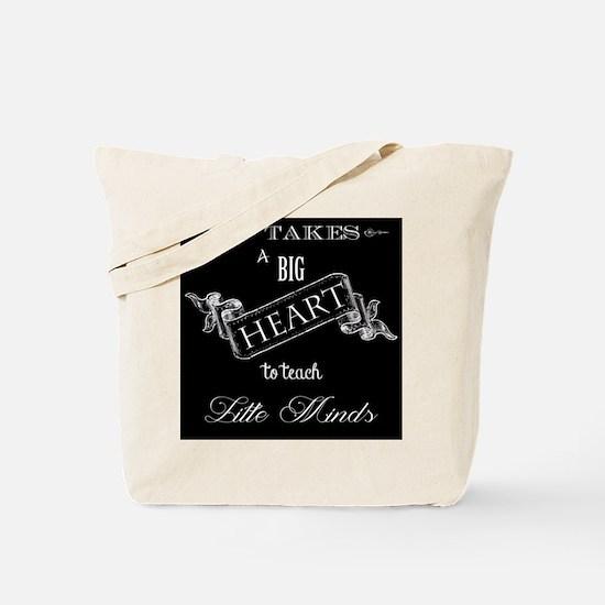 Big Heart Teacher Tote Bag