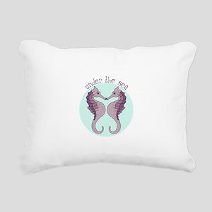Kissing Seahorses Rectangular Canvas Pillow