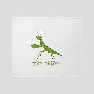 Man Eater Throw Blanket